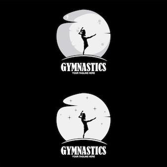 Dans stretching aërobe sport silhouet