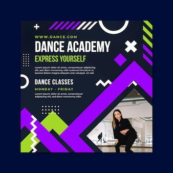Dansacademie vierkante sjabloon folder