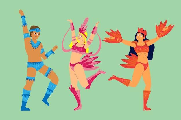 Dansen beweegt braziliaanse carnaval-collectie