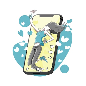 Dansen en populair op social media netwerk