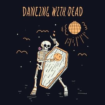 Dansen met dood illustratie premium