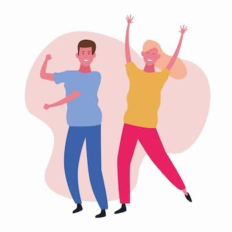 Dansen paar avatar