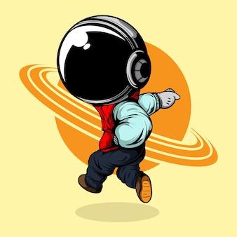 Dansende astronaut