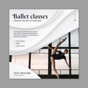 Dansende folder sjabloon met foto