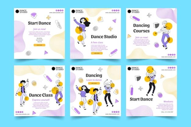 Dansende instagram-berichtenverzameling