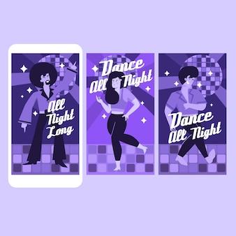 Dansende instagramverhalencollectie