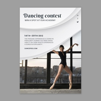 Dansende poster sjabloon met foto