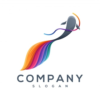 Dansende vis logo ontwerpen