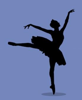 Dansende zwanenmeer van de ballerina