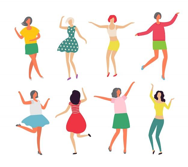 Dansers bewegen in paren, dansen in paren