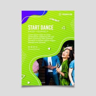 Dansfeest folder sjabloon