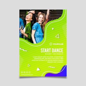Dansfeest poster sjabloon