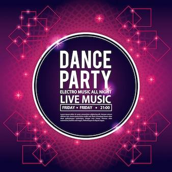 Dansfeest uitnodigingskaart