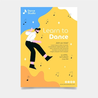 Dansles poster sjabloon