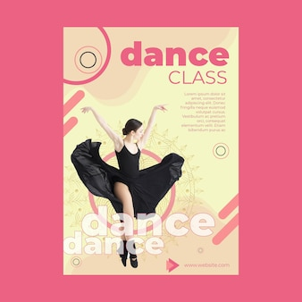Dansles sjabloon folder met foto