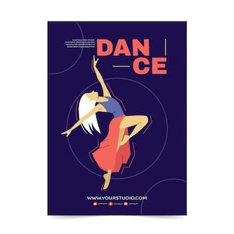 Danslessen afdruksjabloon