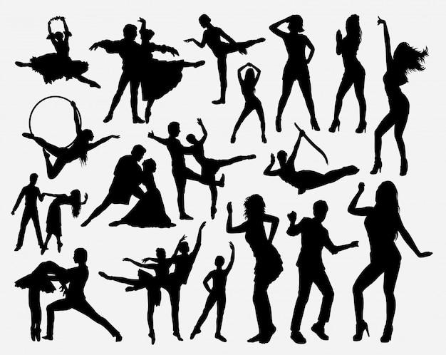 Danswedstrijd silhouet