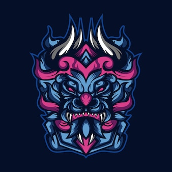 Dappere blauwe monsters