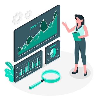 Dark analytics concept illustratie