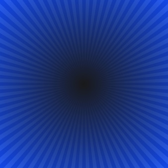 Dark blue abstract gradient ray burst achtergrond - hypnotic vector grafisch van radiale stralen