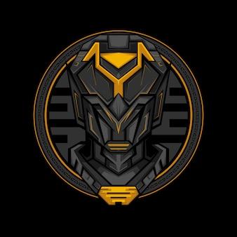 Dark cyborg geometrie stijl