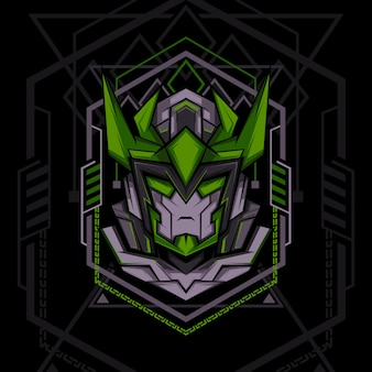 Dark green ranger geometry style