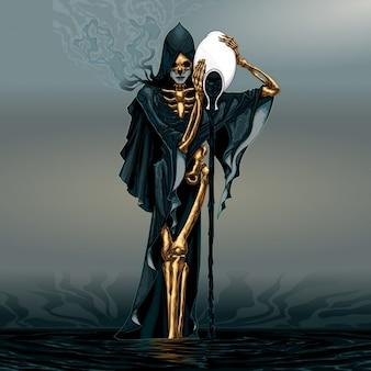 Dark waterman vector illustratie Gratis Vector