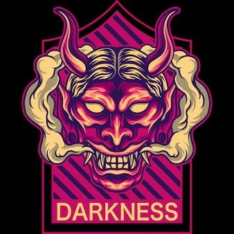 Darkness oni-masker