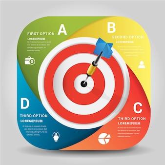 Dart is een competitie en een kans. de ogen van dartboard zijn beide uitdagingen