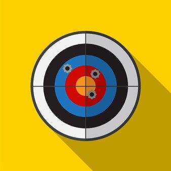 Dart platte pictogram illustratie geïsoleerde vector teken symbool