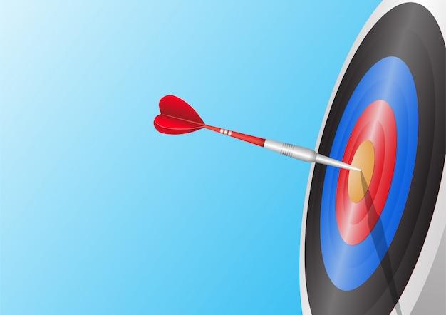 Dart raken van een doel