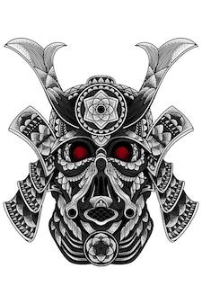 Darth vader zentangle vectorillustratie voor t-shirt mok sticker of uw zaken zoals u wilt