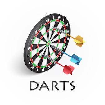 Darts spel illustratie