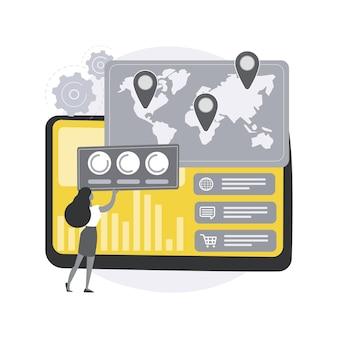 Dashboard dienst abstract concept