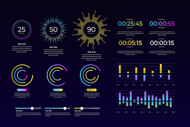 Dashboard-element in kleurrijk ontwerp