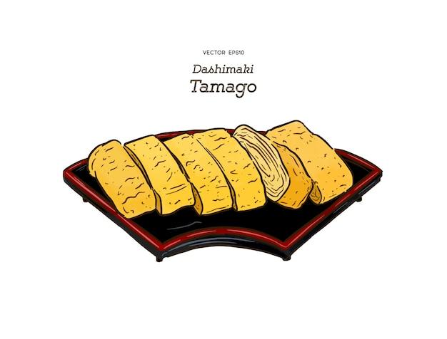 Dashimaki tamago, japanse gerolde omelet