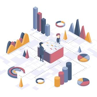 Data-analyse. bedrijfsstatistieken