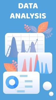 Data-analyse flyer, brochure vector sjabloon