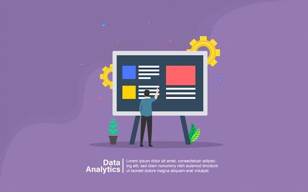 Data-analyse met mensen karakter banner