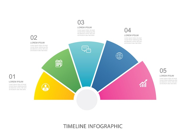 Data infographics stap groei zakelijke sjabloonontwerp.