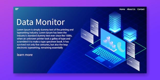 Data monitor-websjabloon