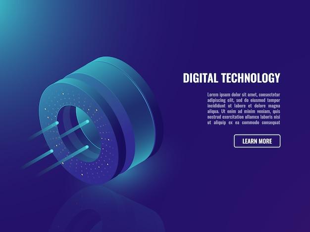 Data science banner, concept van data en informatie operaties