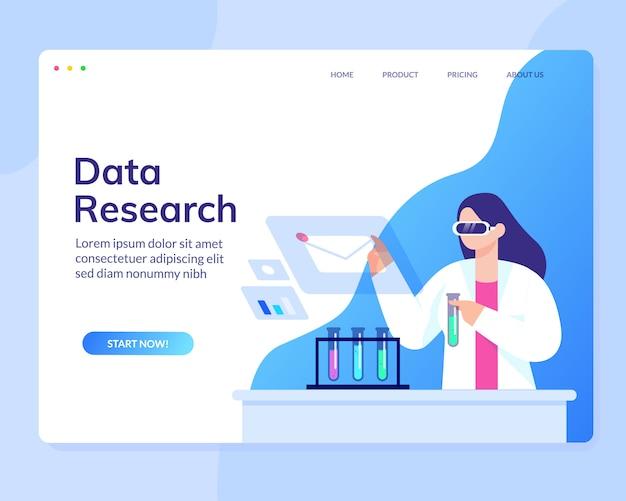 Data scientist analyse onderzoek wetenschap website template