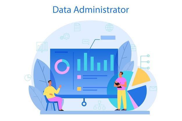 Database beheerder concept.