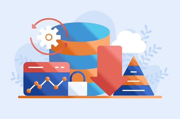 Database concept illustratie