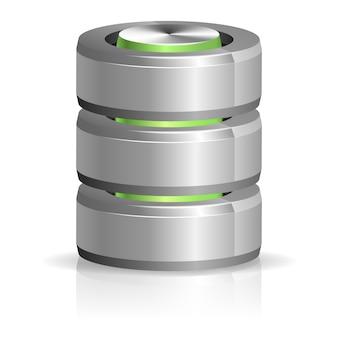 Database en harde schijf pictogram