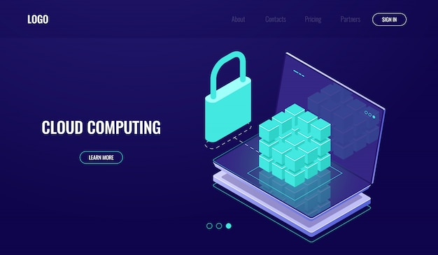 Databasetoegang, veilige gegevensbeveiliging, gegevensbeveiliging, serverruimte, cloud computing