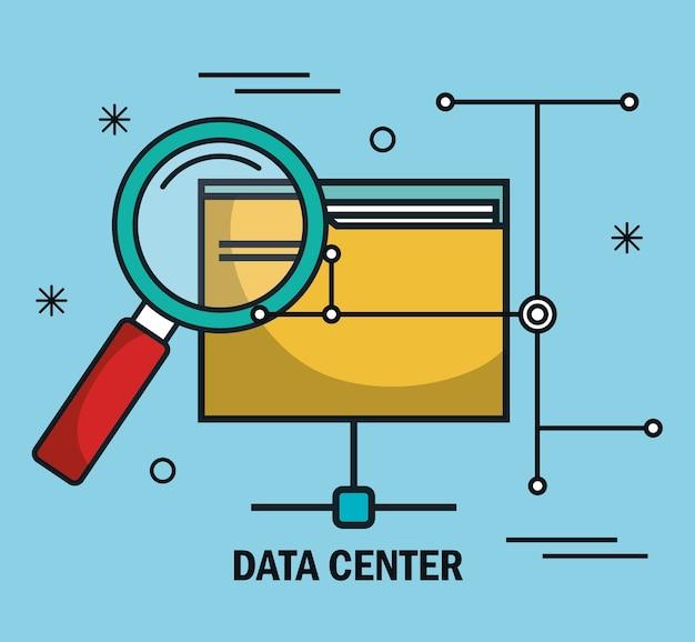 Datacenter-bestanden map zoeken geïsoleerd