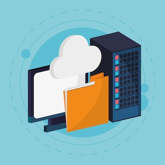 Datacenter cloud computing-map