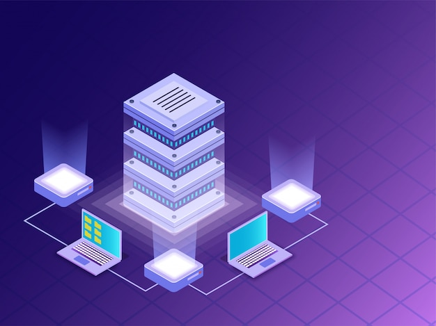 Datacenter concept.